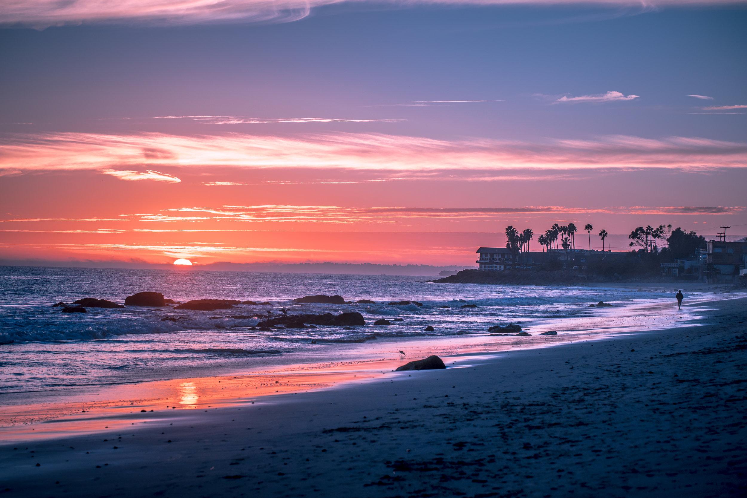 Malibu Beach Sunset | Cedar + Surf