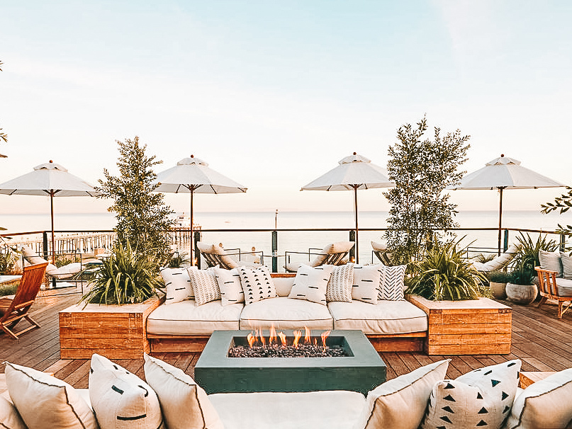 Surfrider Malibu Hotel rooftop bar | Cedar + Surf