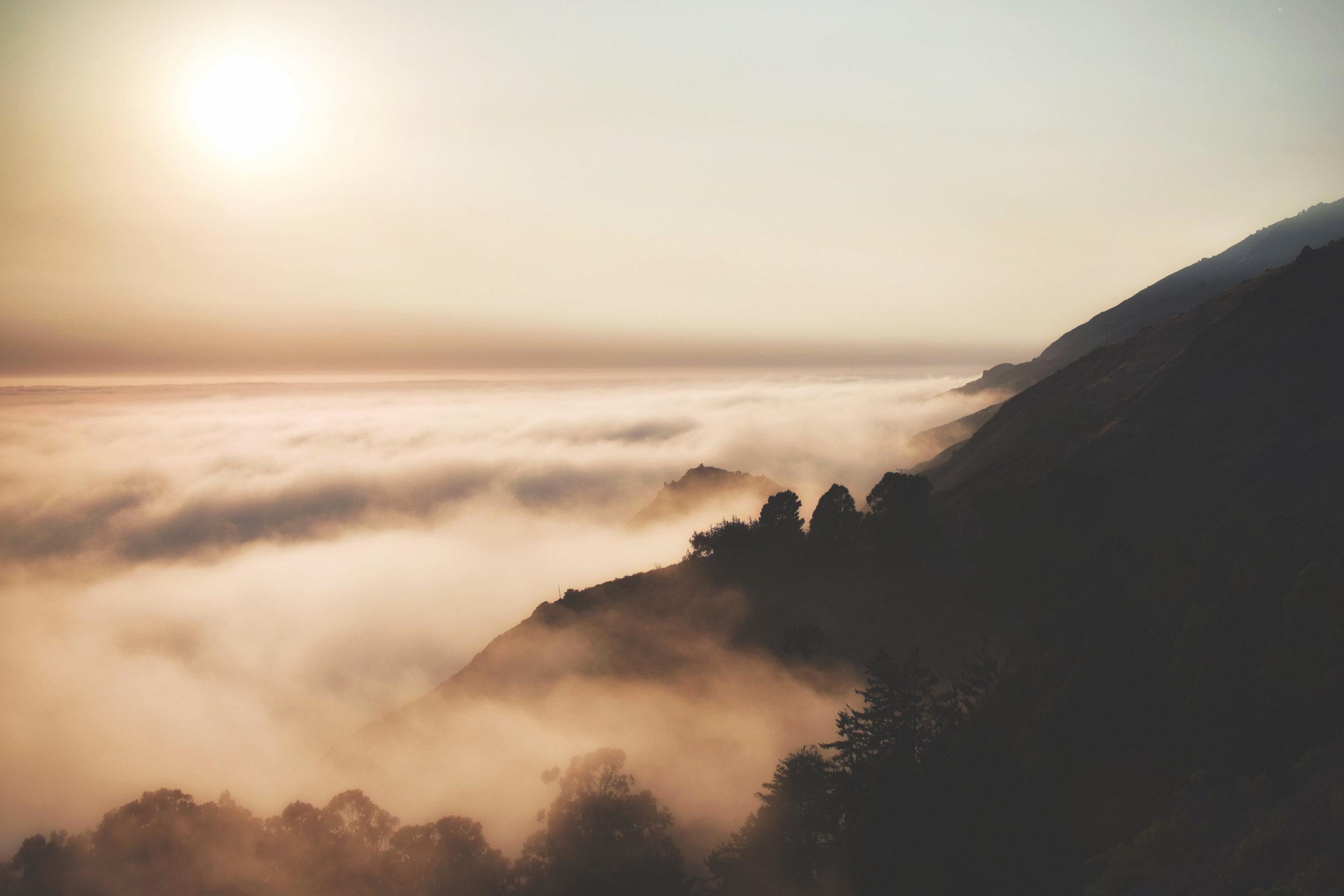 Foggy marine layer in Big Sur, California | Cedar + Surf