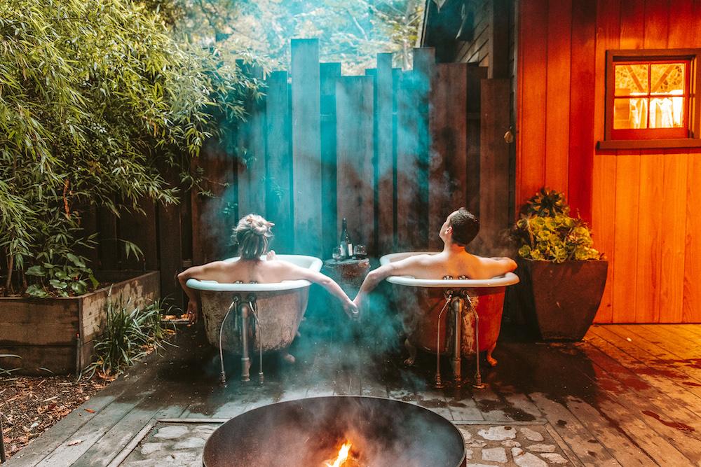 Claw Foot Tub - Big Sur Cabin at Glen Oaks | Cedar + Surf