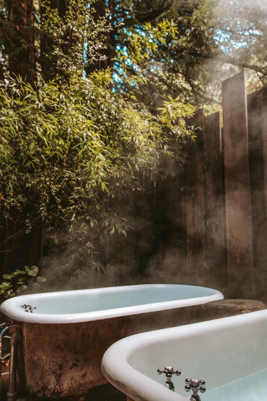 Claw Foot Tubs Glen Oaks Big Sur Cabin in the Redwoods | Cedar + Surf