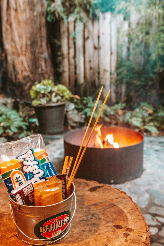Campfire and Smores Glen Oaks Big Sur Cabin in the Redwoods | Cedar + Surf