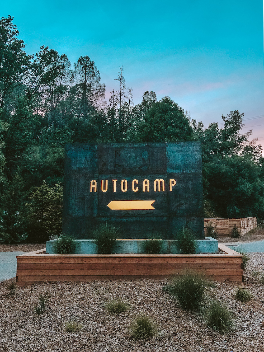 Autocamp Yosemite Entrance | Cedar + Surf
