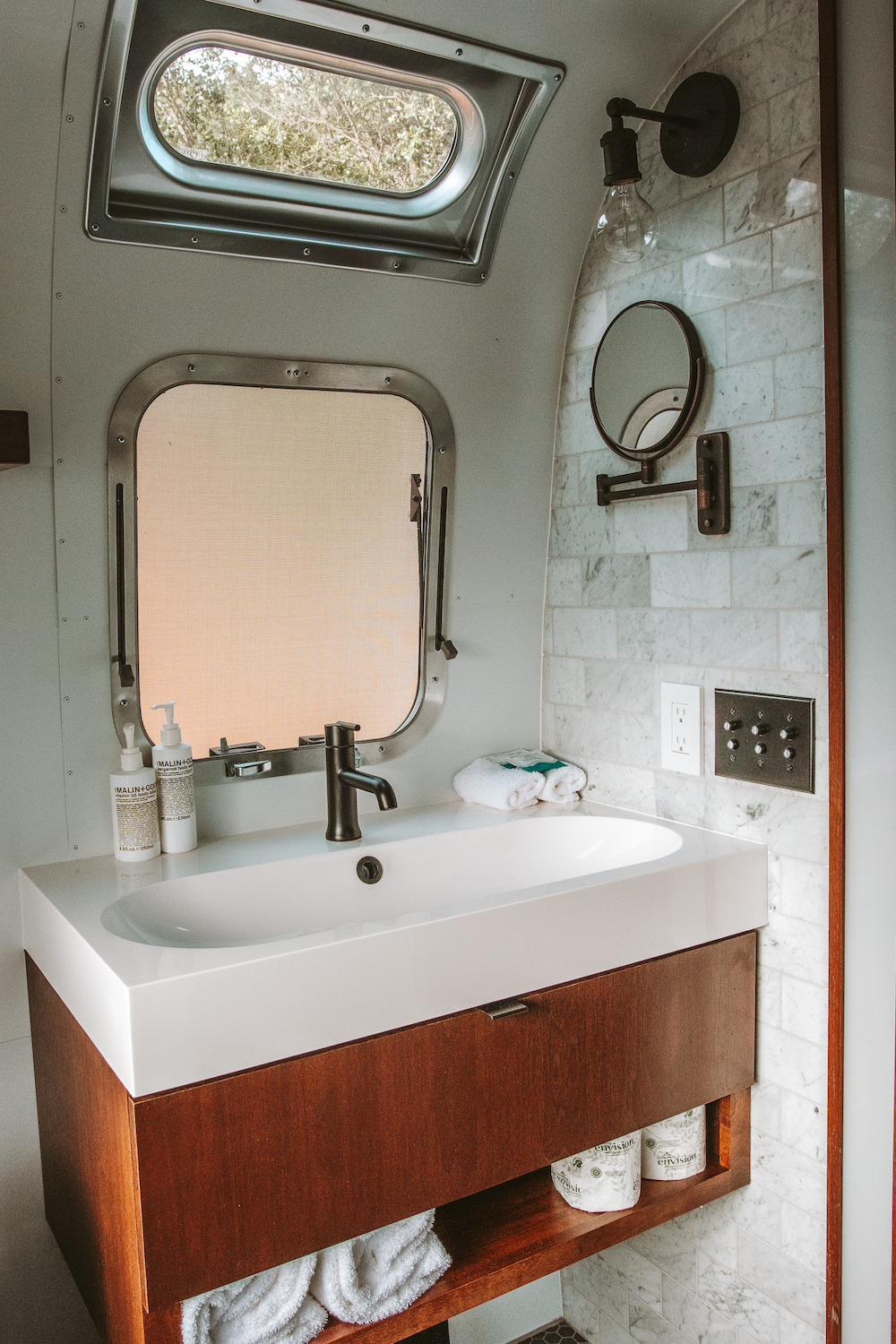 Autocamp Yosemite Airstream Bathroom | Cedar + Surf