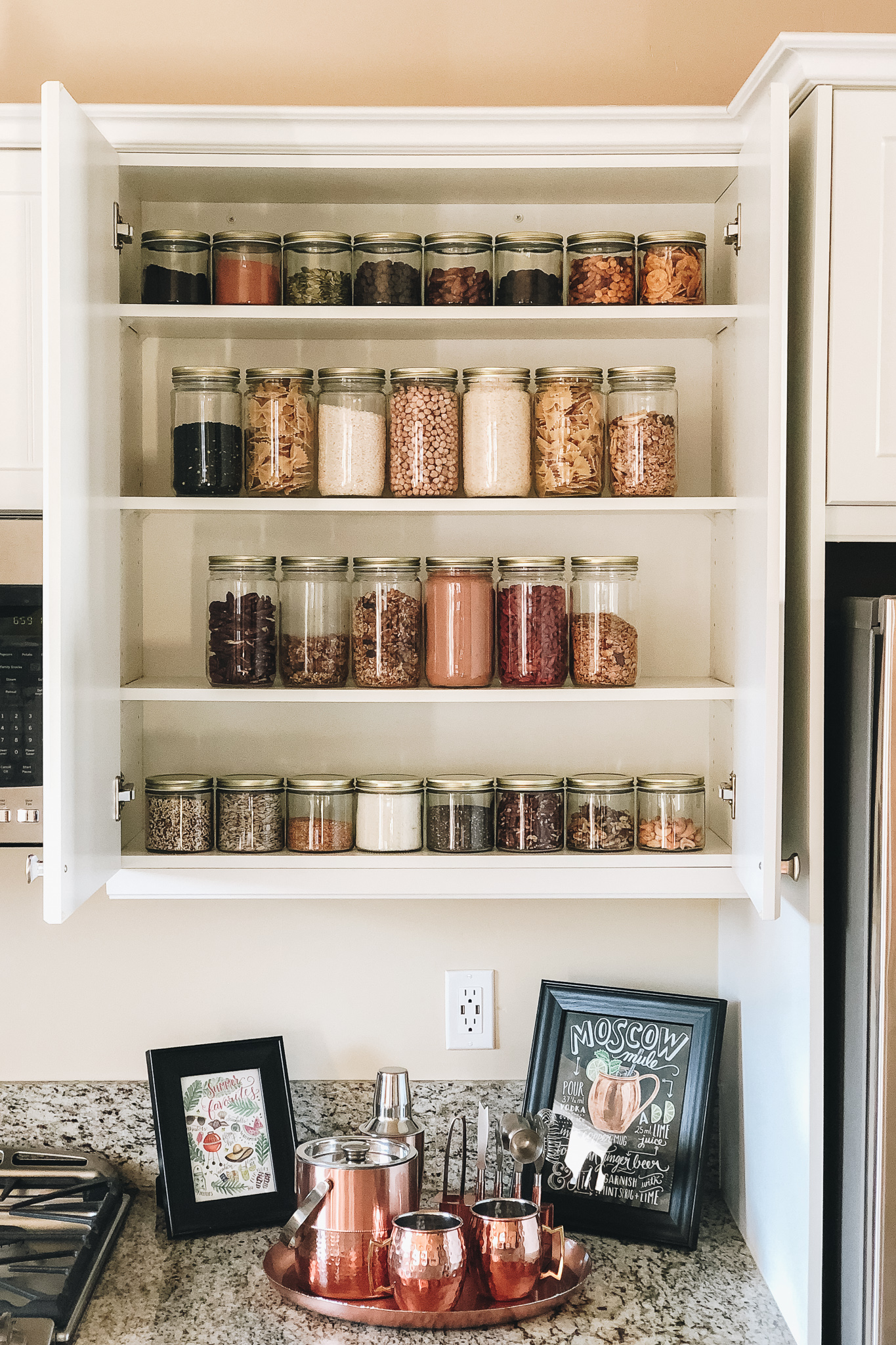 Bulk food pantry glass jars | Cedar + Surf