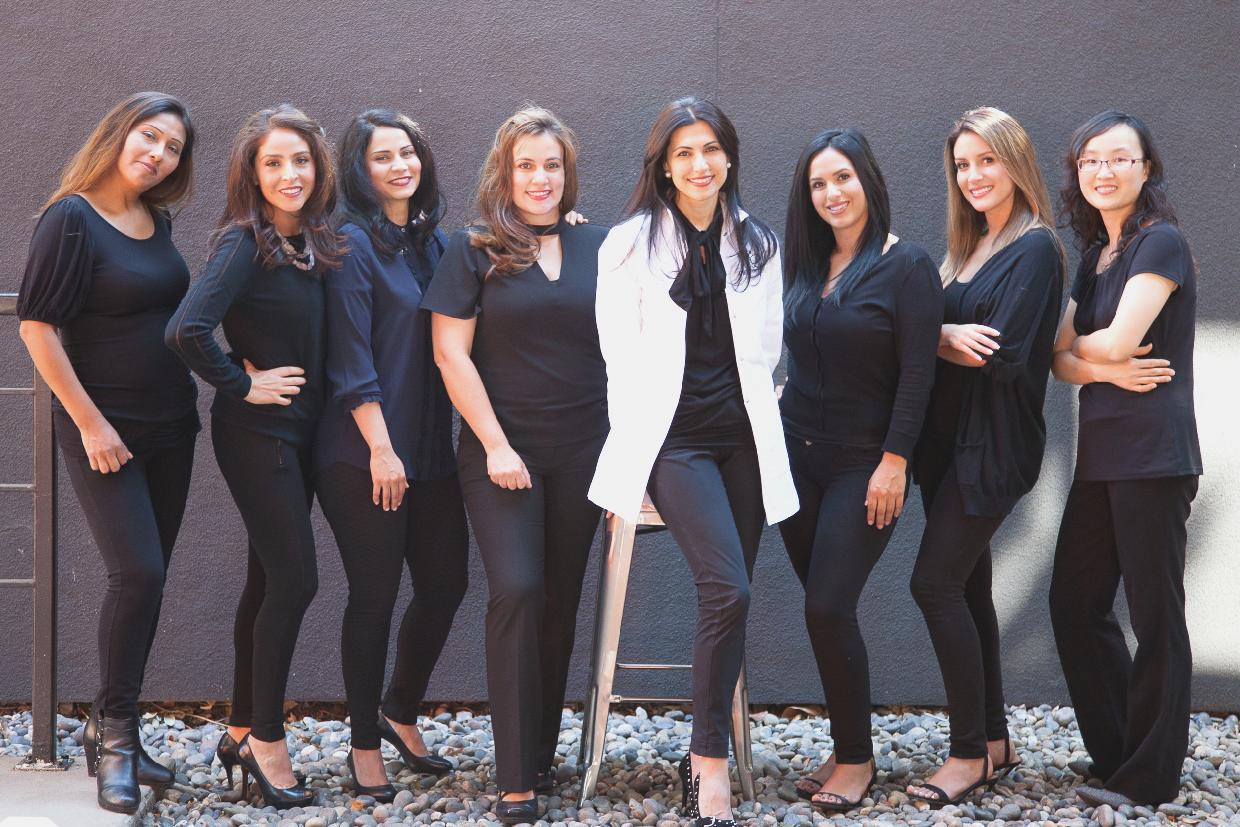 Left to Right: Katty, Aurora, Ghazaleh, Catalina, Dr. Doroodian, Cynthia, Betzy, Helen.