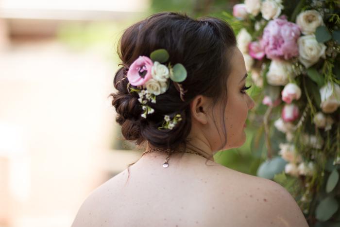 Pink Ranunculus Hair Flowers