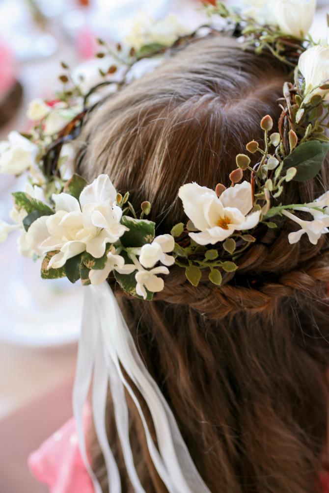 Flower Girl's Wreath of Silk Flowers