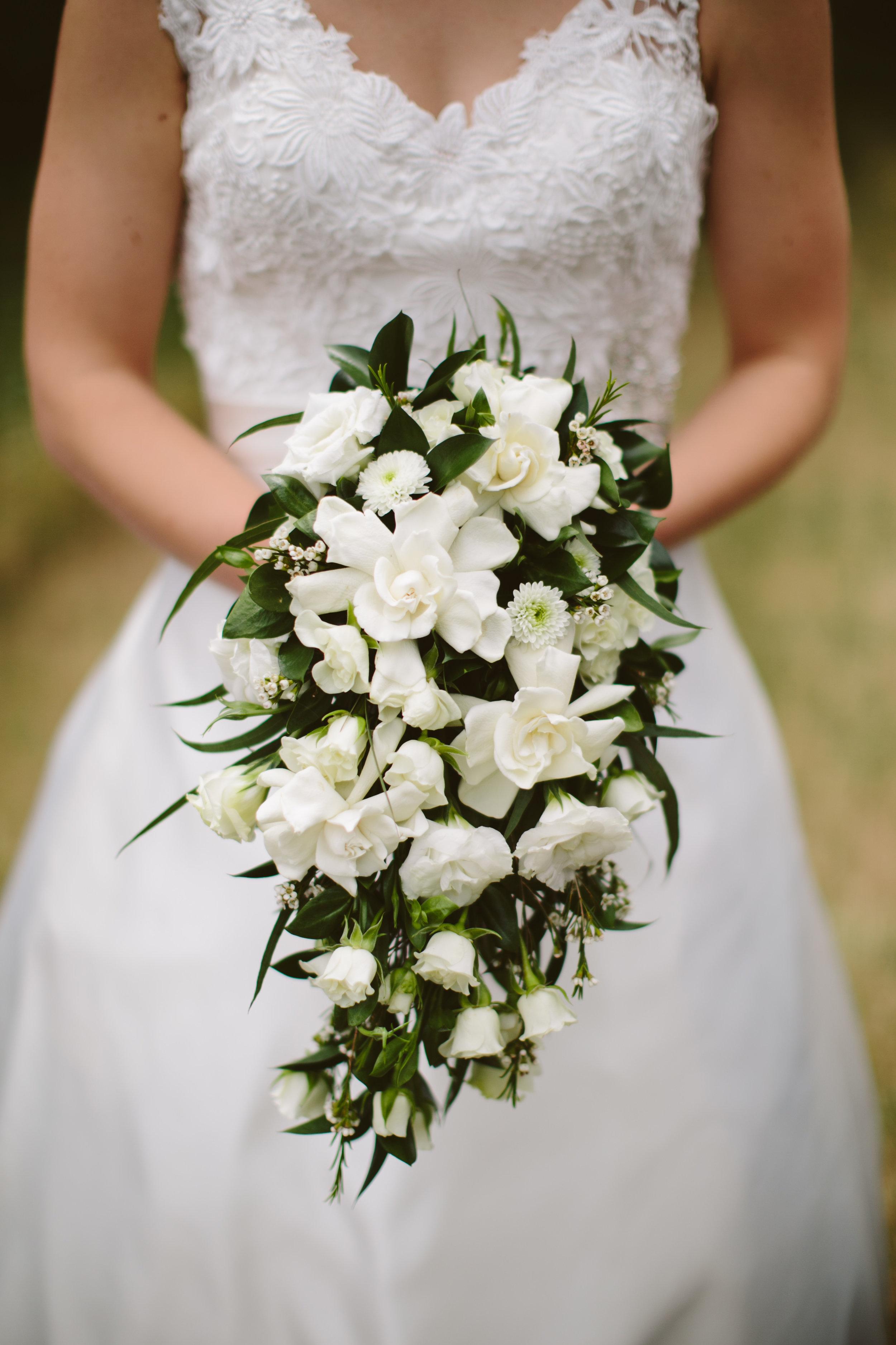 Vintage 1950's cascading bridal bouquet