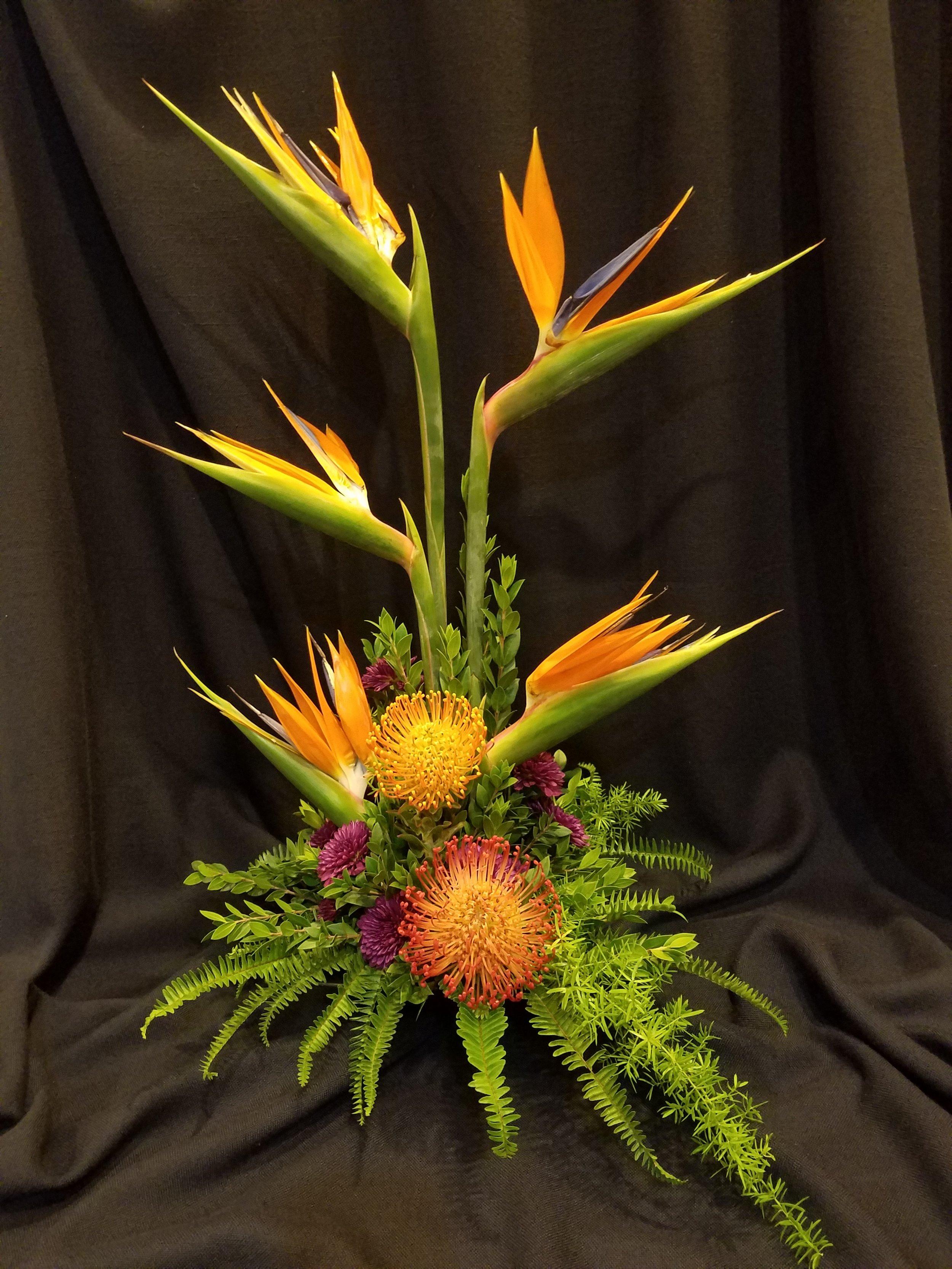 contemporary floral arrangement