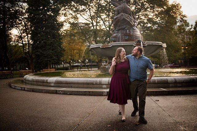 I know you guys felt the cool Fall like temps today but have you noticed it's already starting to look like Fall in a few places?! I got to spend some time with Nick and Allison this weekend in Pittsburgh and kinda forgot it's still August! #kristinhurleyphotography #morgantownweddingphotographer #wvweddingphotographer #brideandgroomtobe #paweddingphotographer #mdweddingphotographer #pittsburghweddingphotographer