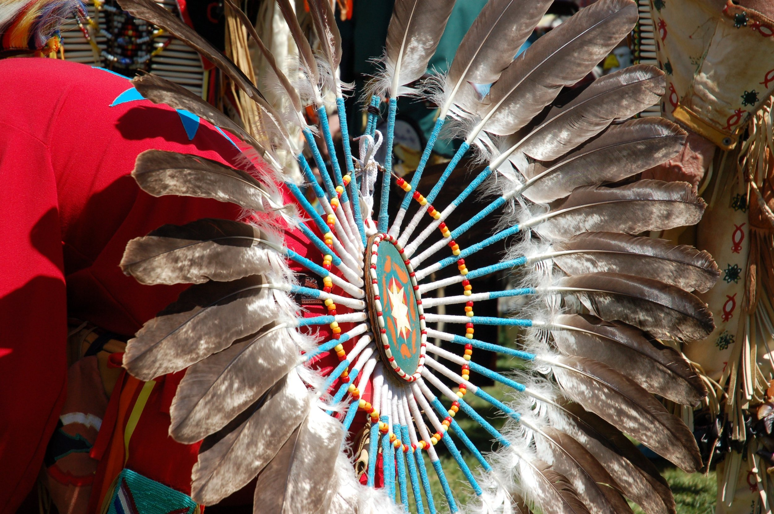 A dancer's regalia at Red Urban Project's third annual Montreal powwow, Vanier College campus, May 7-8 2016.