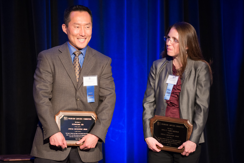 H58 Byeongsook Seo and Adela Flores-Brennan Accept Special Recognition Award 3 (Photo courtesy of Hartmannphoto, LLC).jpg