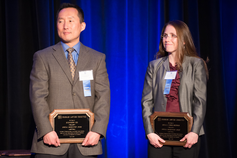 H57 Byeongsook Seo and Adela Flores-Brennan Accept Special Recognition Award 2 (Photo courtesy of Hartmannphoto, LLC).jpg