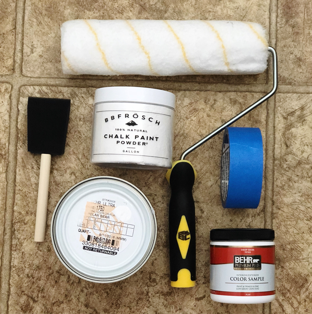 bathroom makeover on a budget, do it yourself home projects, do it yourself affordable home projects, bathroom makeover, BB Frosch, bathroom before and after, do it yourself bathroom makeover, DIY bathroom makeover, do it yourself bathroom makeover inspiration, painting linoleum floors with chalk paint, chalk paint project ideas, painting with behr paints, behr paint, behr premium plus