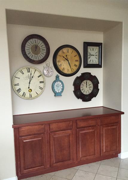 "Former ""clock"" wall"