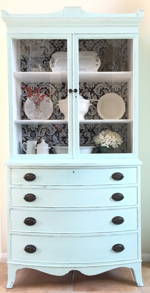 antique hutch makeover, affordable do it yourself home projects, before and after furniture makeover, budget do it yourself projects, DIY, hutch makeover, thrift finds, thrift store furniture makeover, do it yourself thrift projects, BB Frosch, chalk paint projects, chalk paint powder