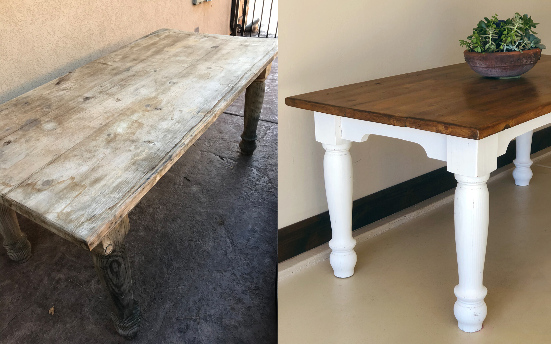 Farmhouse Table Restoration