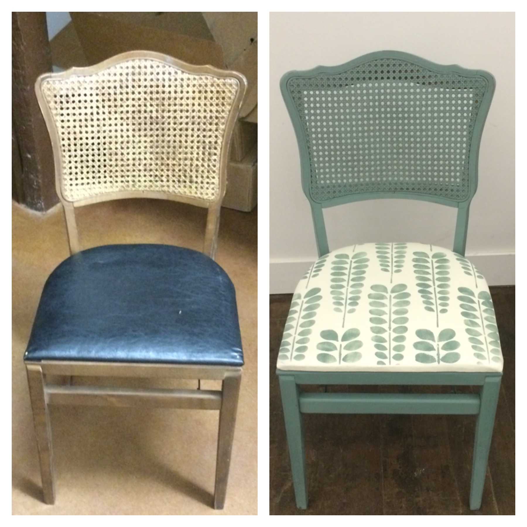 YES, you CAN Paint Leather (and Chair Caning)