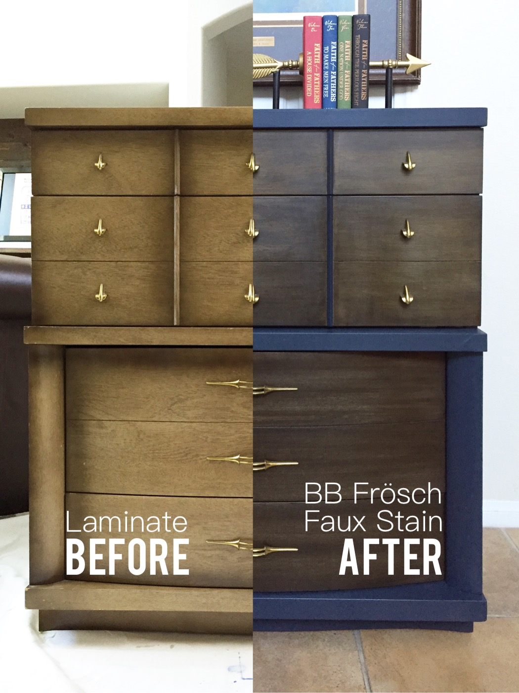 Faux-Stained Laminate Dresser