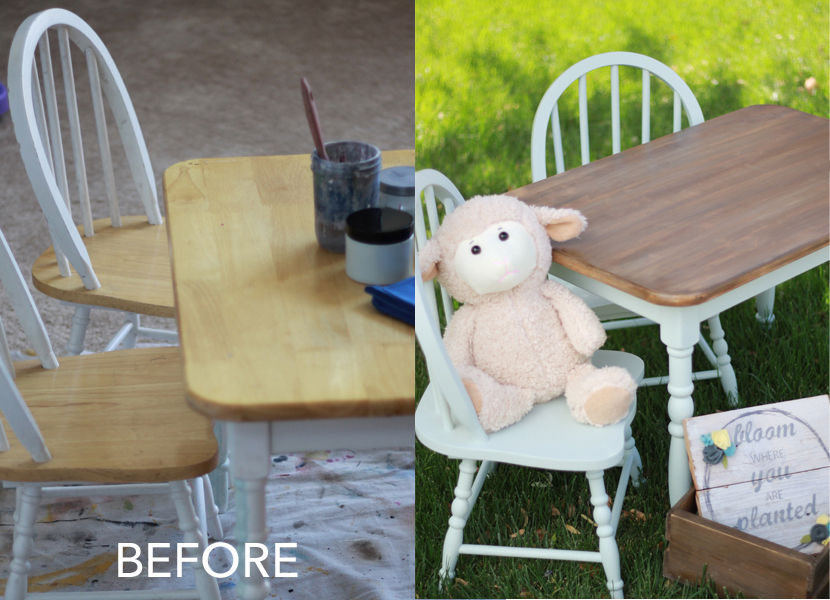 Weathered Wood Childs Table