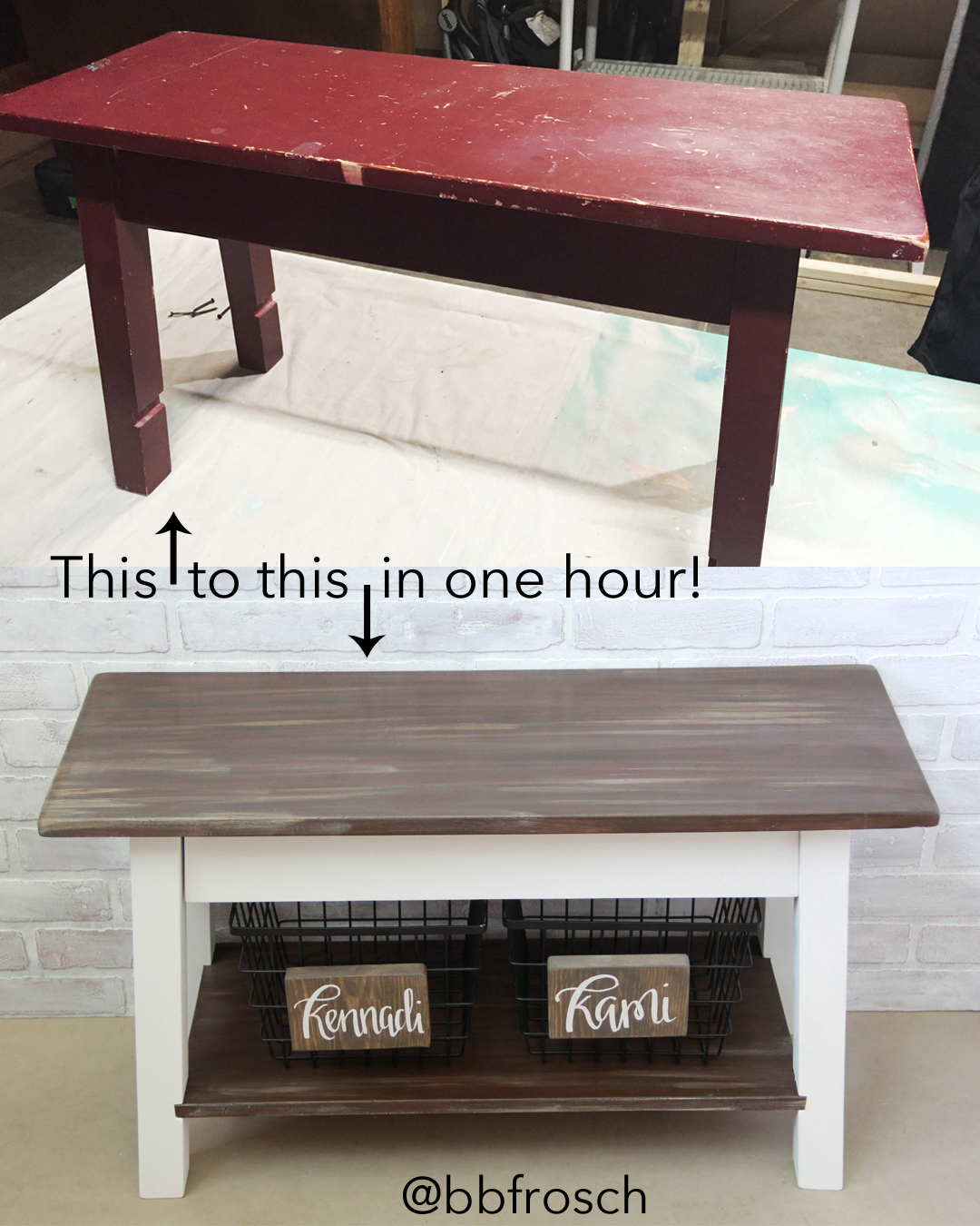Weathered Wood Bench