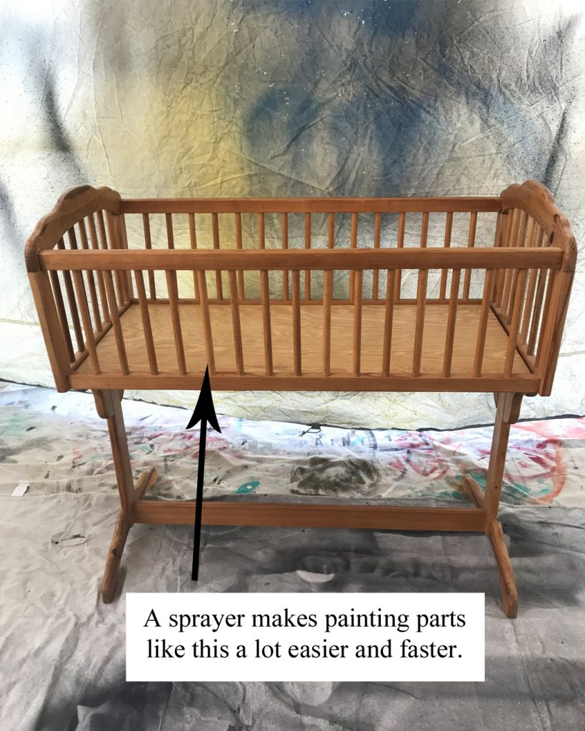 "Cradle Makeover with $2 ""Oops"" Paint, Cradle Makeover DIY makeover, DIY nursery furniture makeover, DIY at home project, furniture makeover project, furniture makeover project, before and after furniture makeover, BB Frosch, chalk paint DIY, chalk paint furniture makeover project, DIY furniture makeover inspiration, DIY home weekend project"