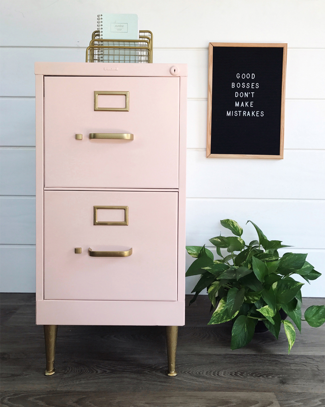 pink filing cabinet, do it yourself pink office decor, pink office decor, pink and gold office inspo, chalk paint tutorial, BB Frosch, chalk paint like a pro, affordable do it yourself home projects, DIY on a budget, affordable chalk paint, chalk paint powder, where to buy chalk paint