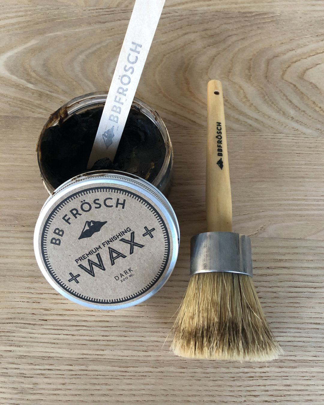 dark wax, diy furniture repair, how to fix veneer, dark wax on raw wood