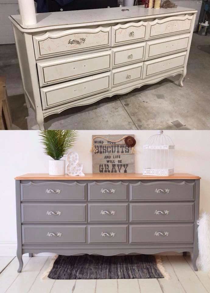 Grey French Provincial