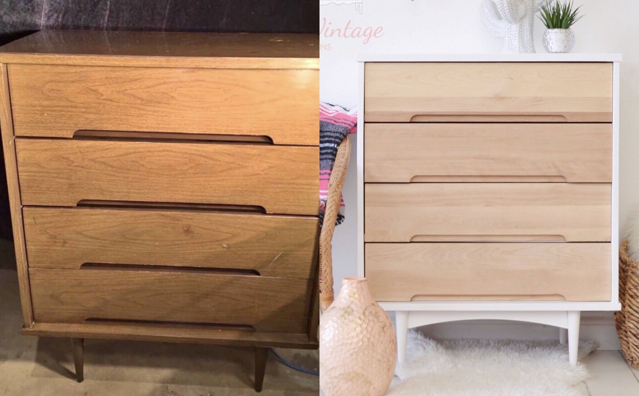 White and Natural Dresser #2