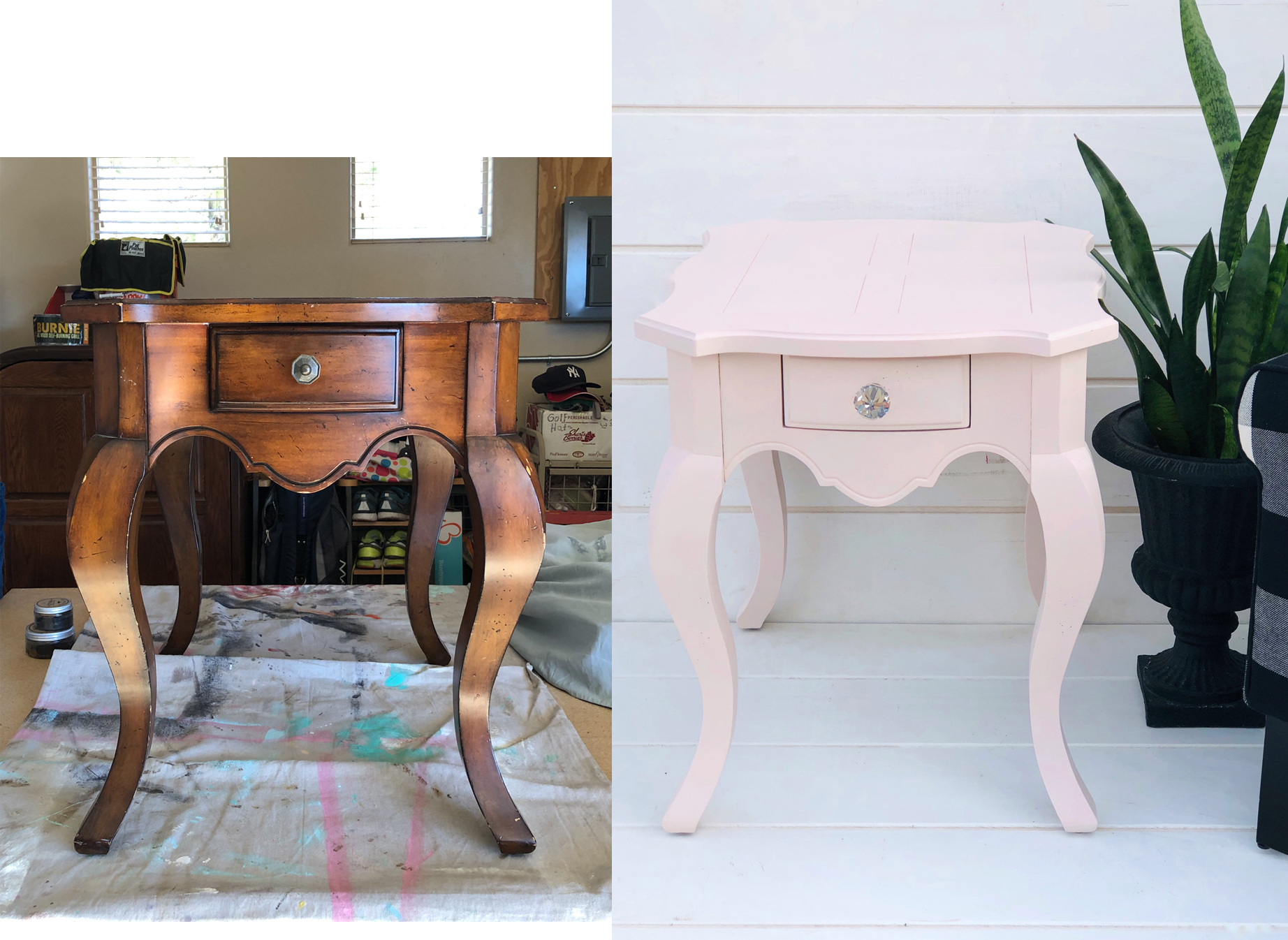Pink End Table #1