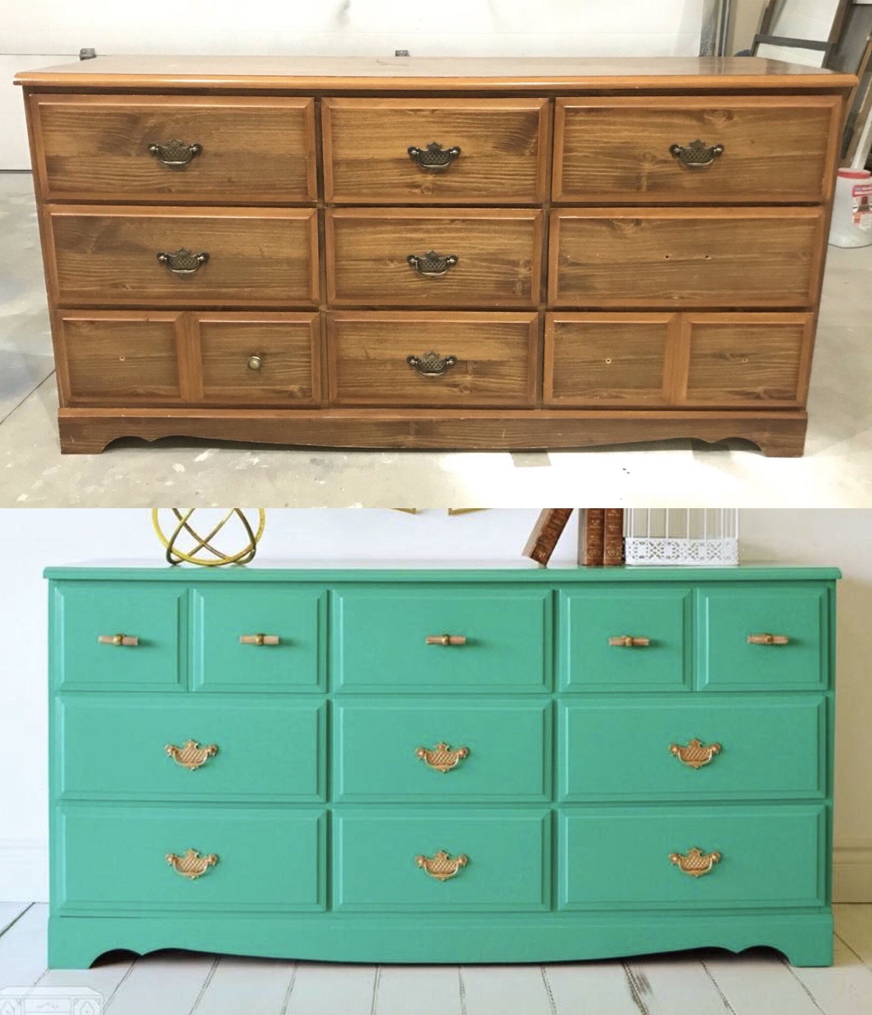 Green 70s Dresser