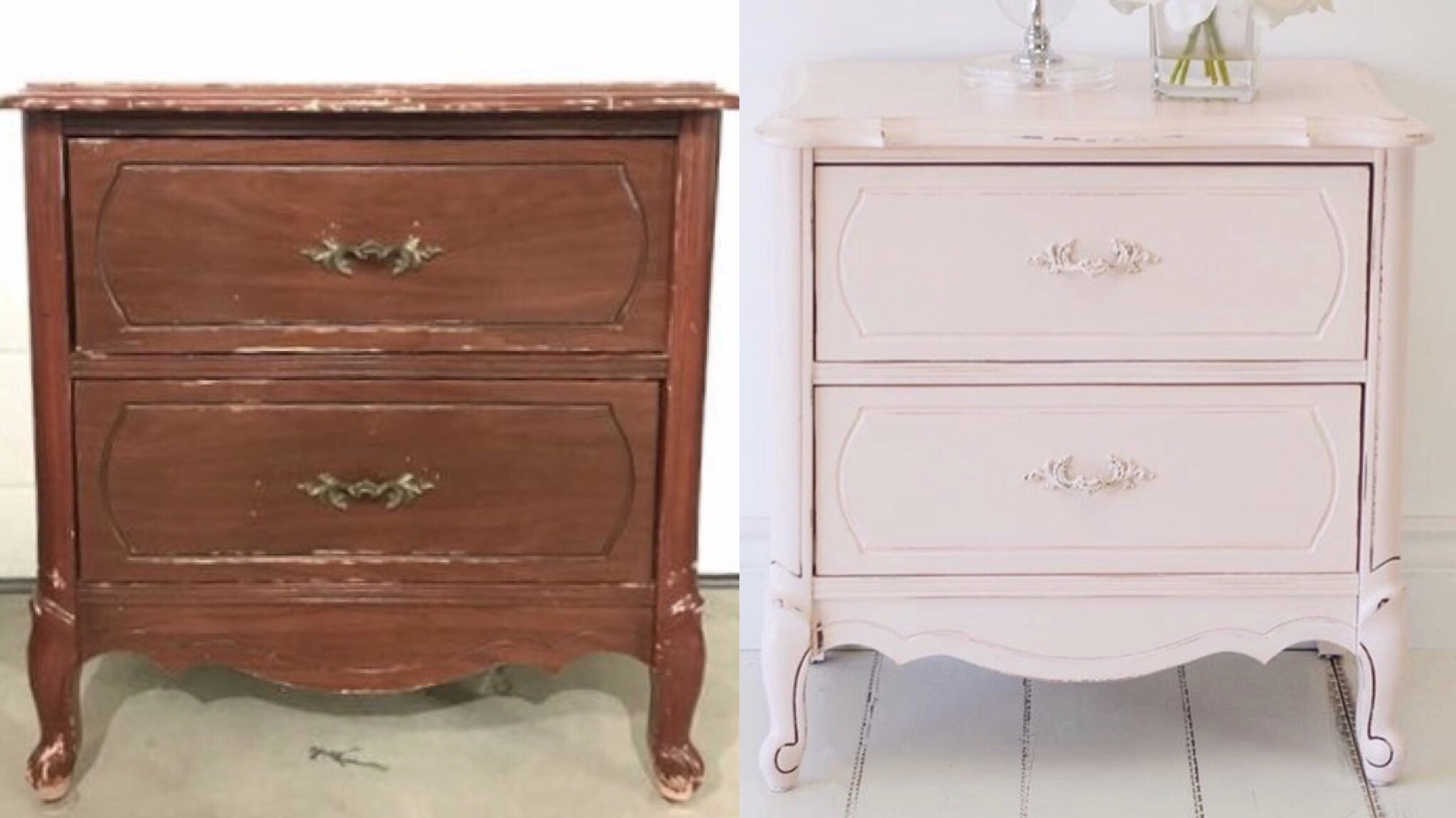 Pink French Provincial Nightstand