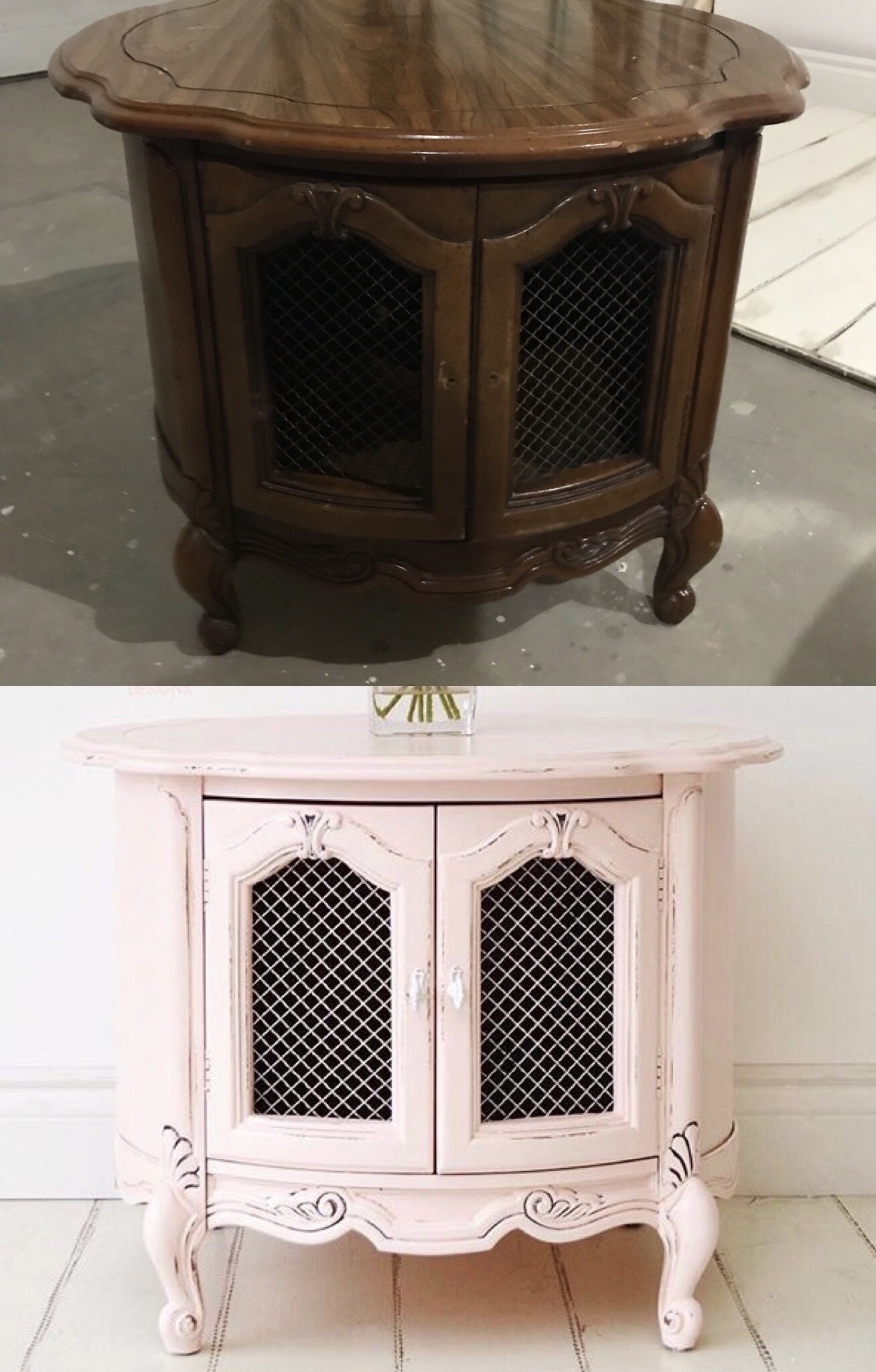 Round Pink End Table