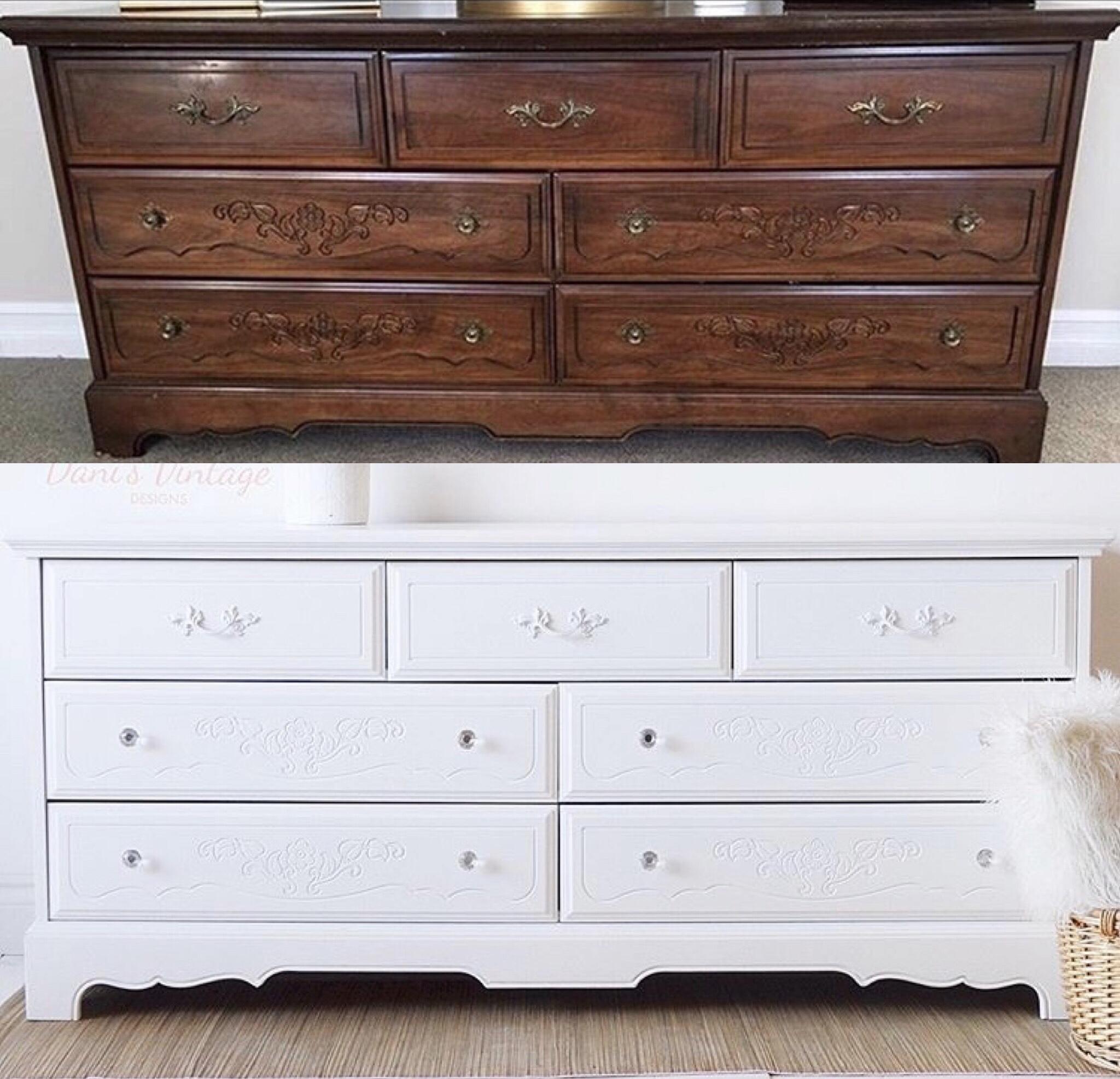 White 70s Dresser