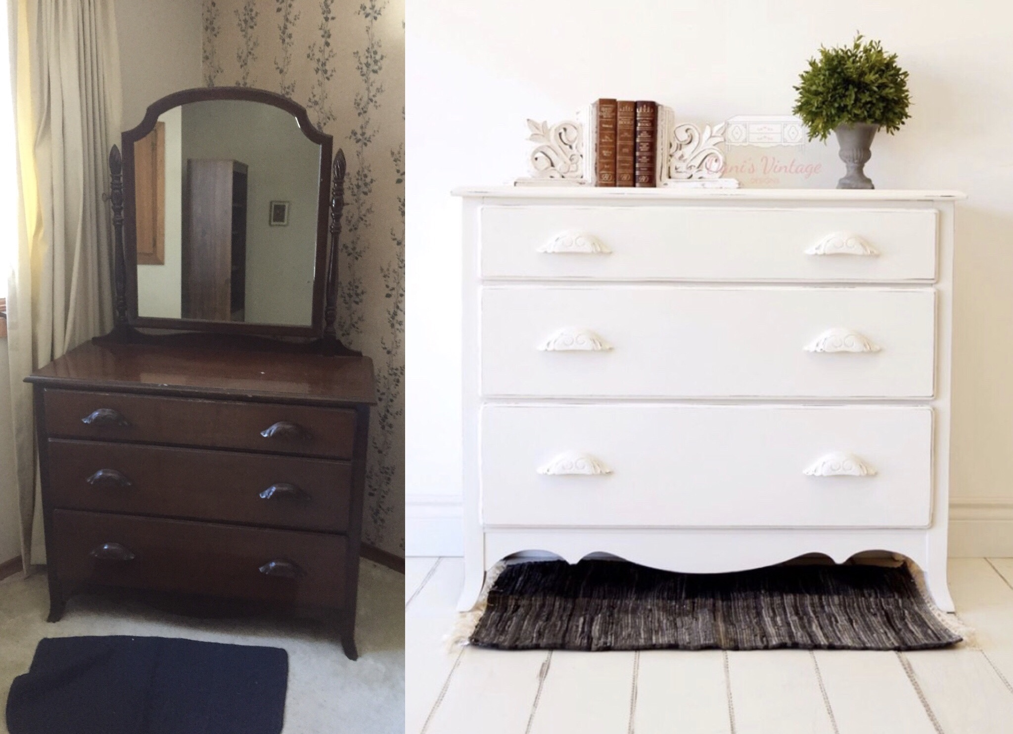 White Vanity Dresser