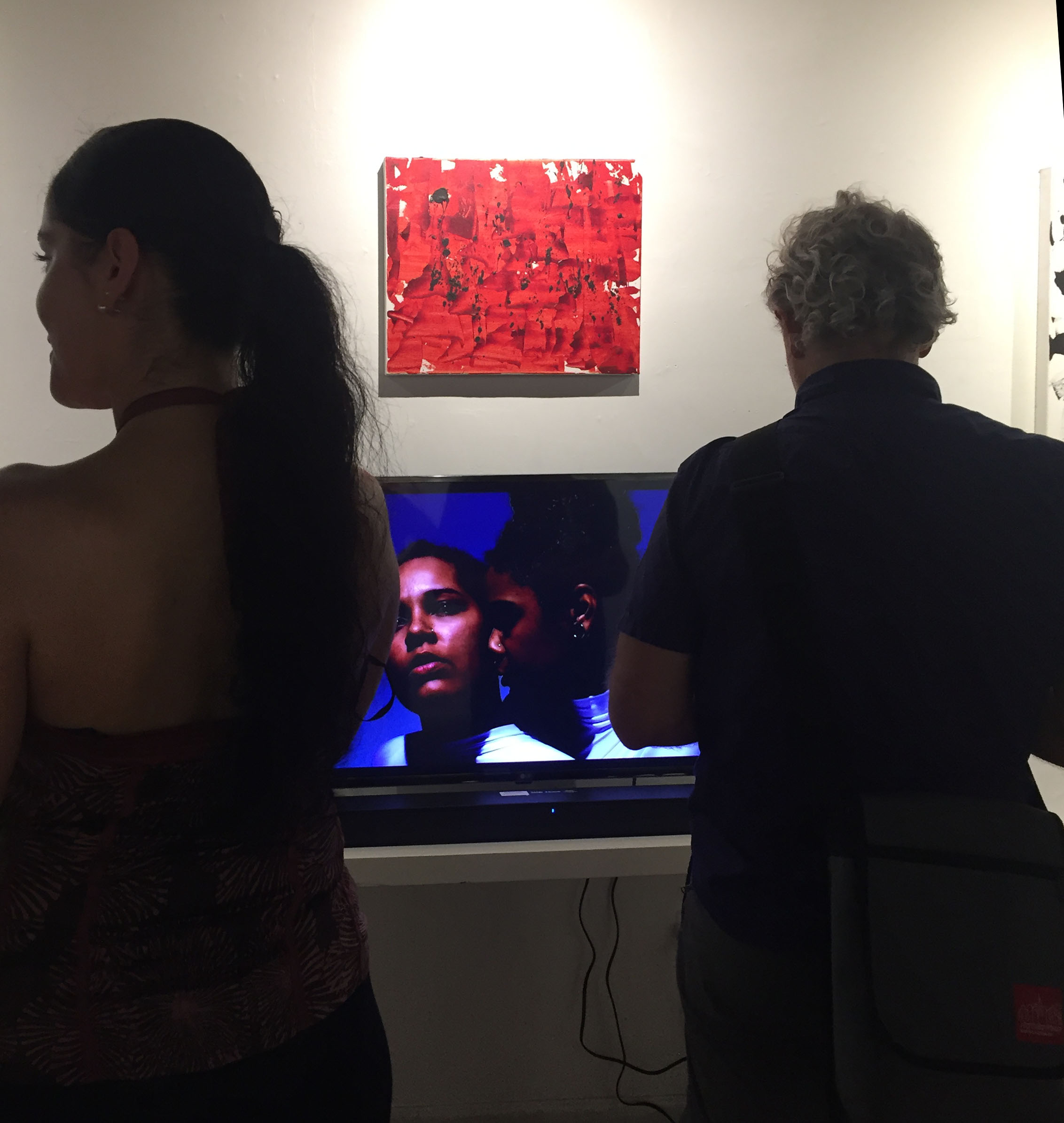 Bishop Gallery Video with Red Death Painting IMG_5349.jpg