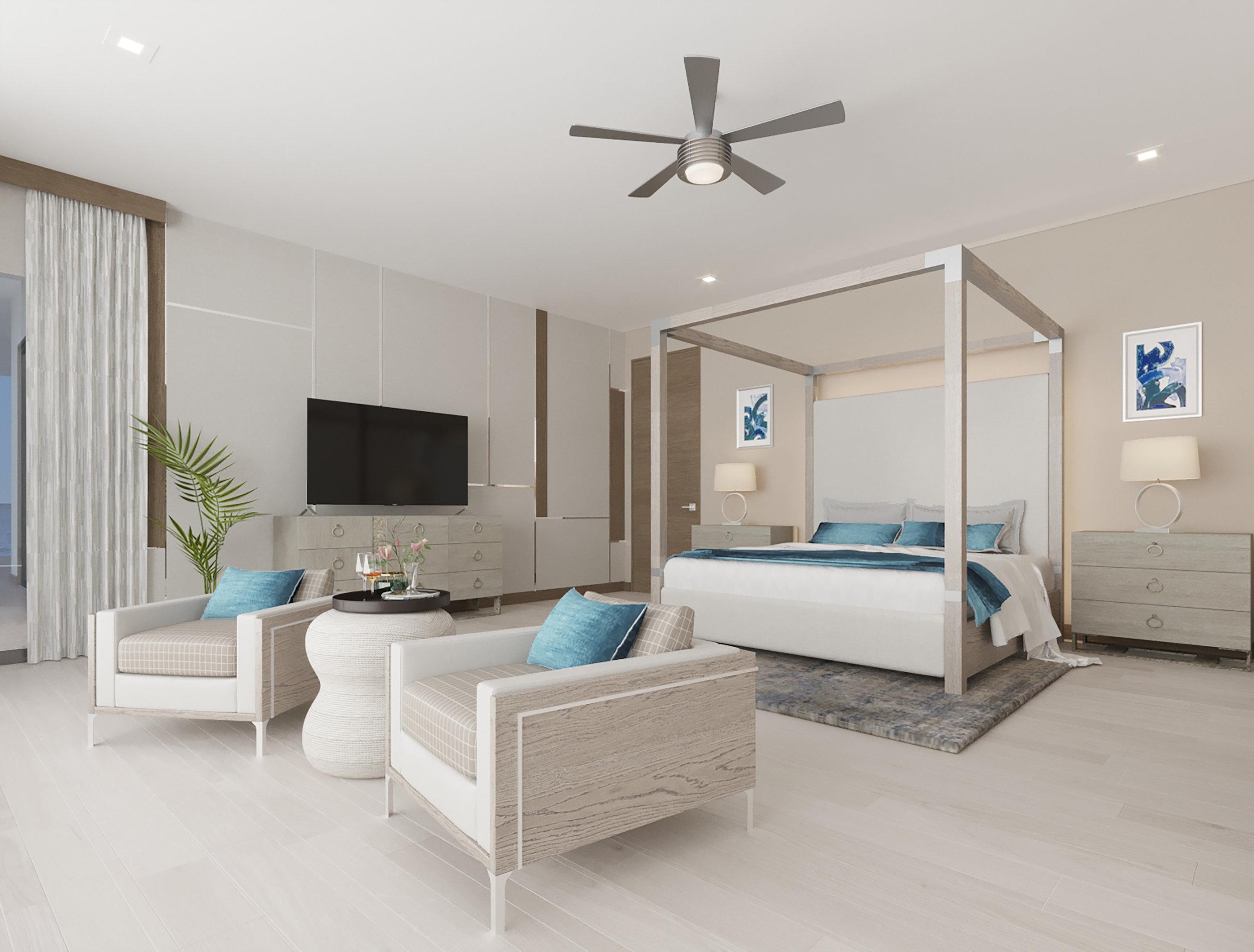 MAIN LEVEL: Master Bedroom