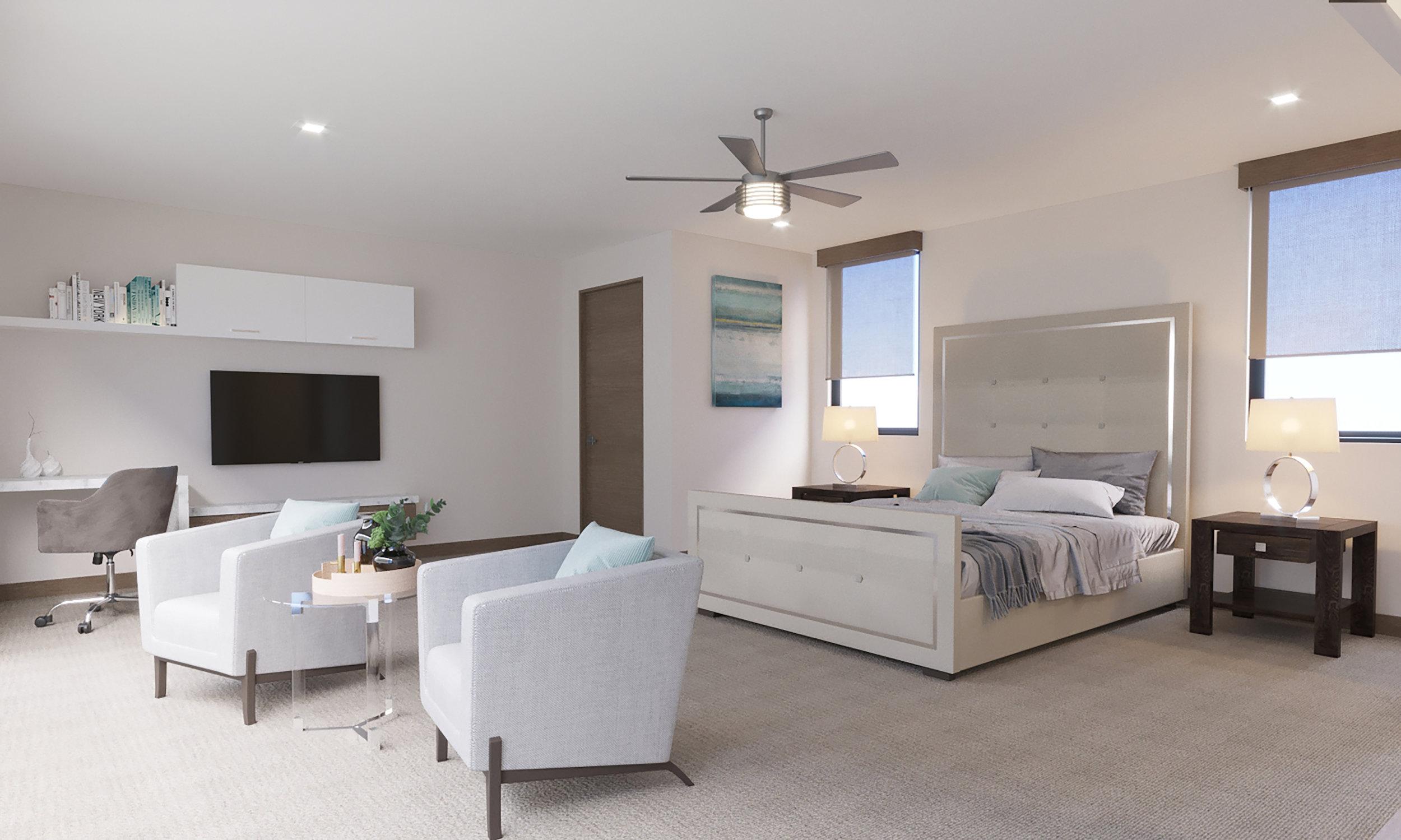 UPPER LEVEL: Bedroom 3