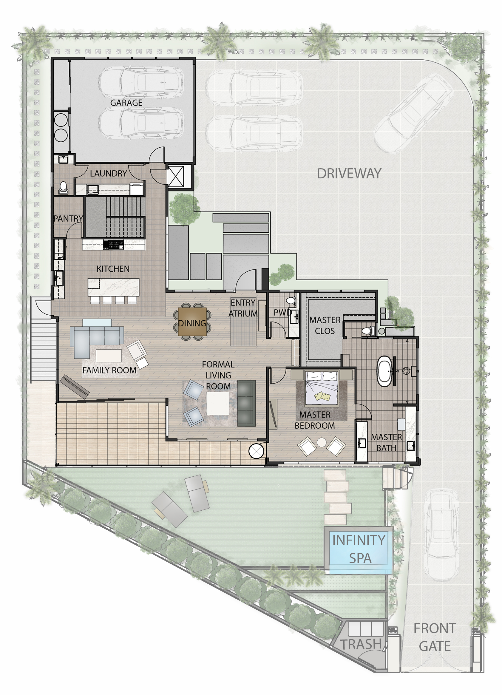 506 Hakaka Place Main Level Floorplan