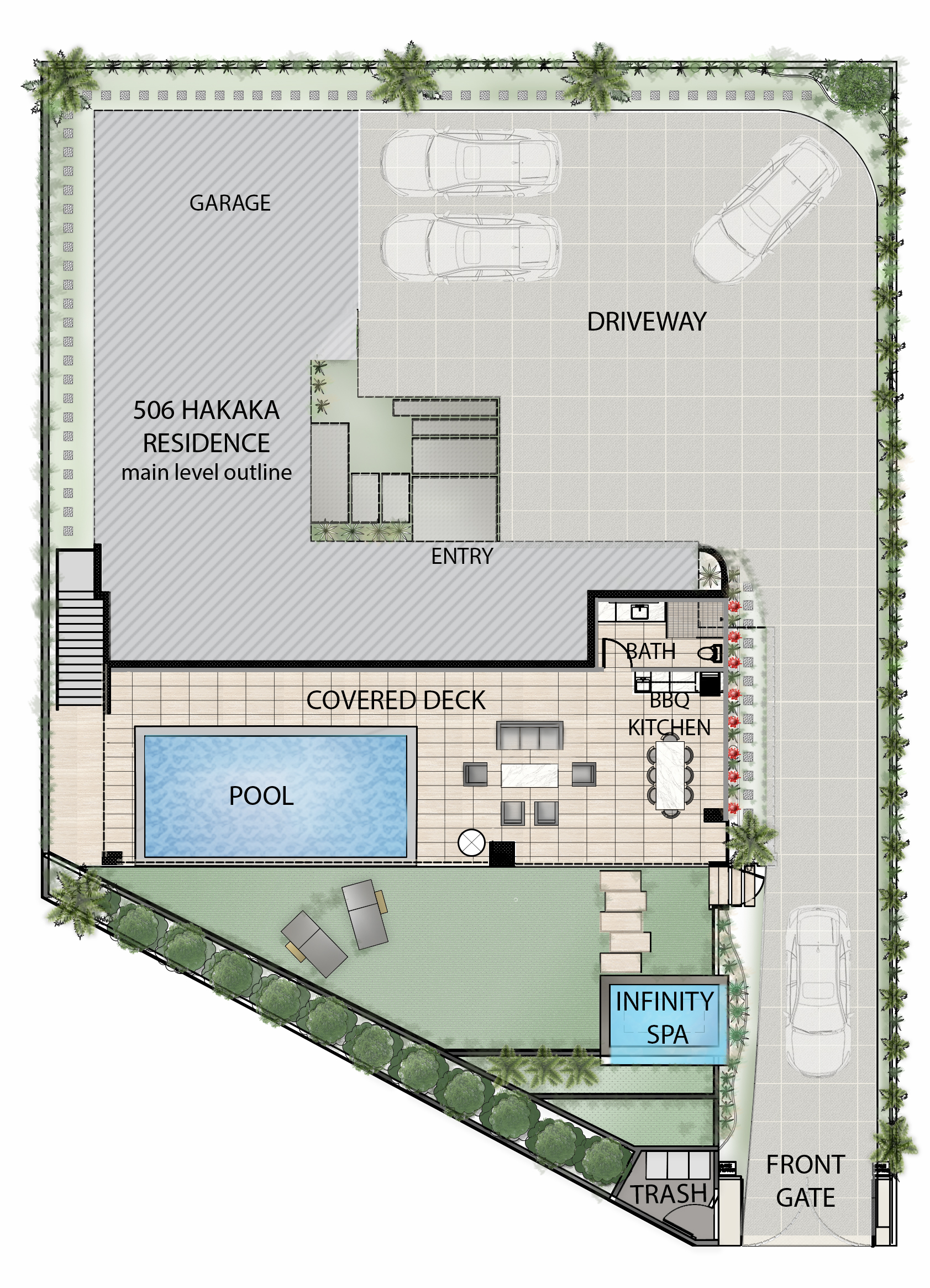 506 Hakaka Place Lower Level Floorplan
