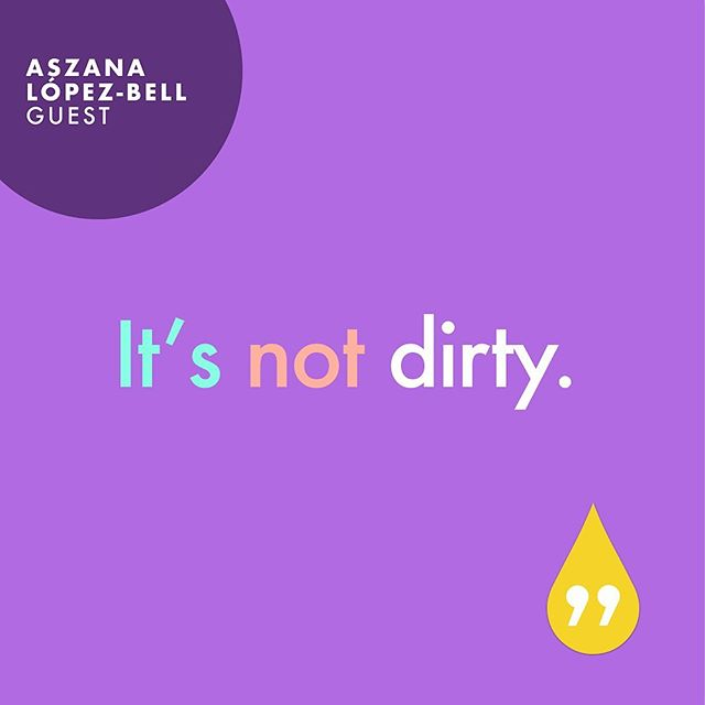 In our most recent episode, this is what Aszana had to say about getting your period 😌🙌🏽 Who listened already today!? #feelingmyflo #flopod #menstruation #podcast #periodpower #endthestigma
