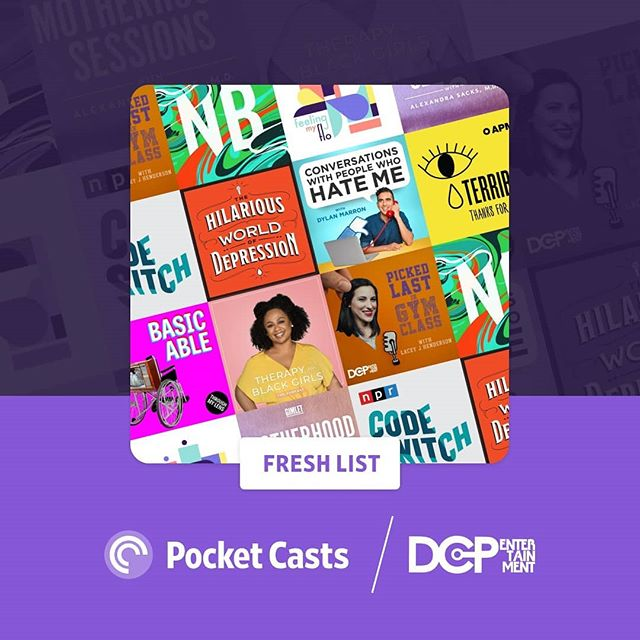 We are honored to be featured on this list of incedible #podcasters working to make taboo convos less taboo! Thanks for the love @pocketcasts! 💜💙❤ #menstruationmatters #podcastlove