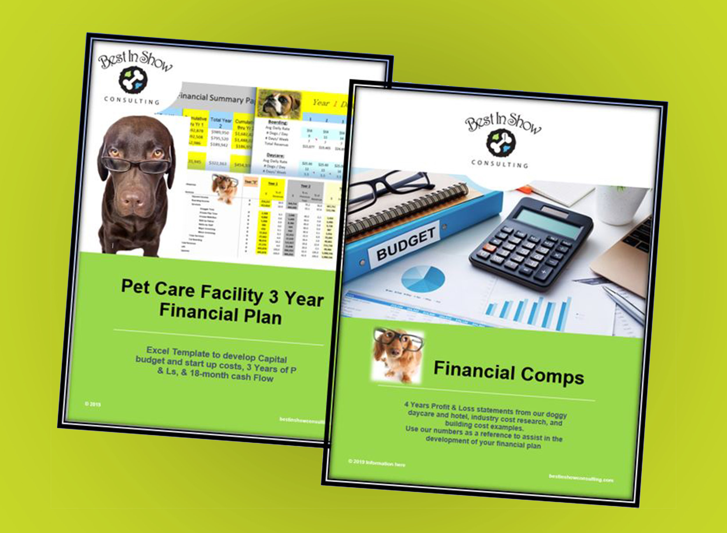3 Year financial plan + Comps Products