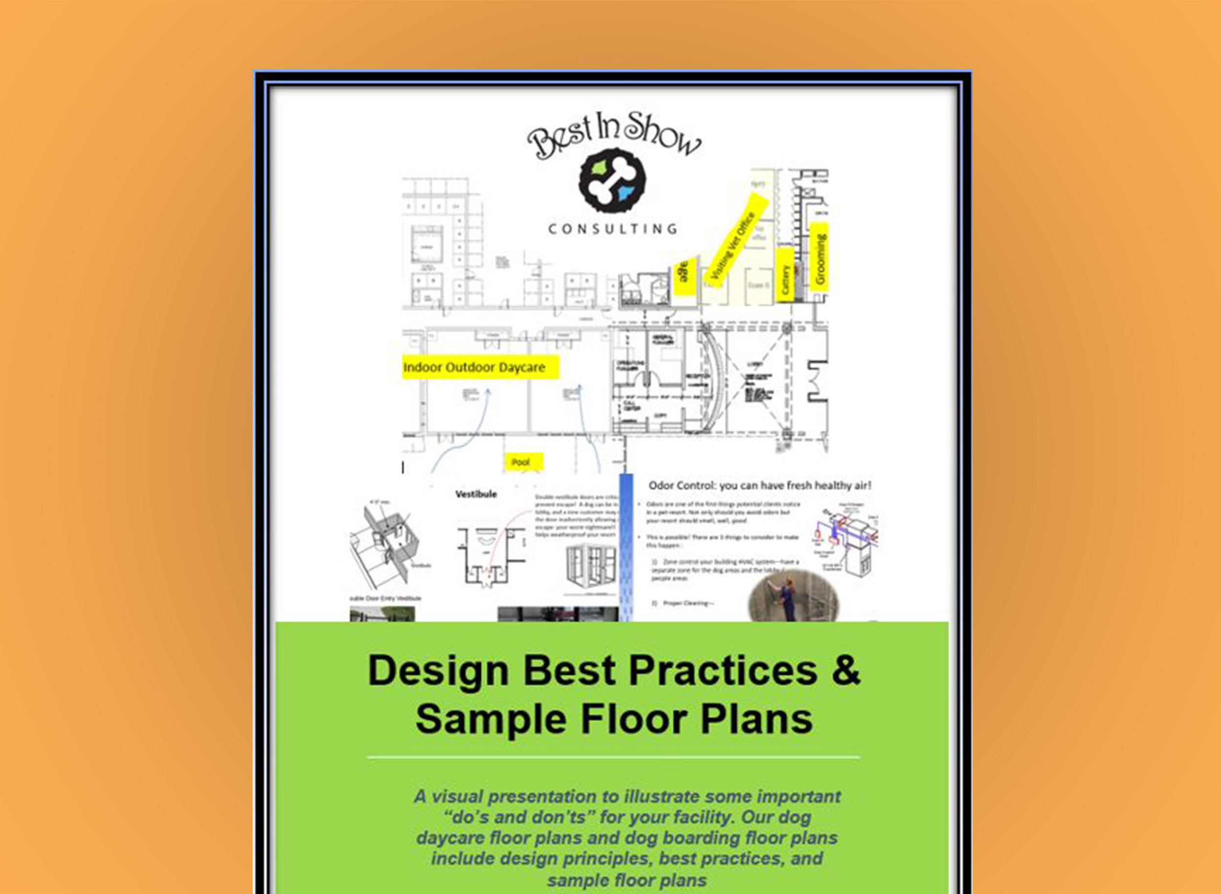 40 Pages Visually showing Design Best Practices & Sample Floor Plans