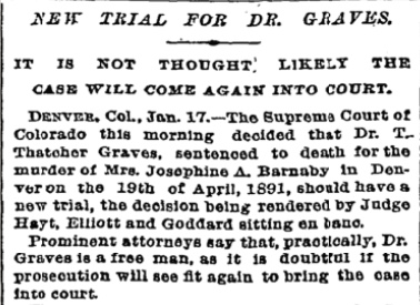 Article in New York Times, 1893
