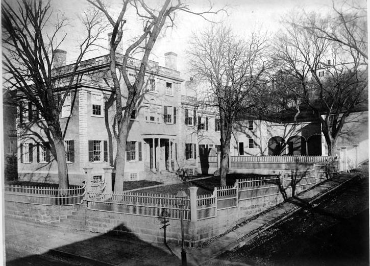 Sullivan Dorr House, 109 Benefit Street, childhood home of Thomas Wilson Dorr