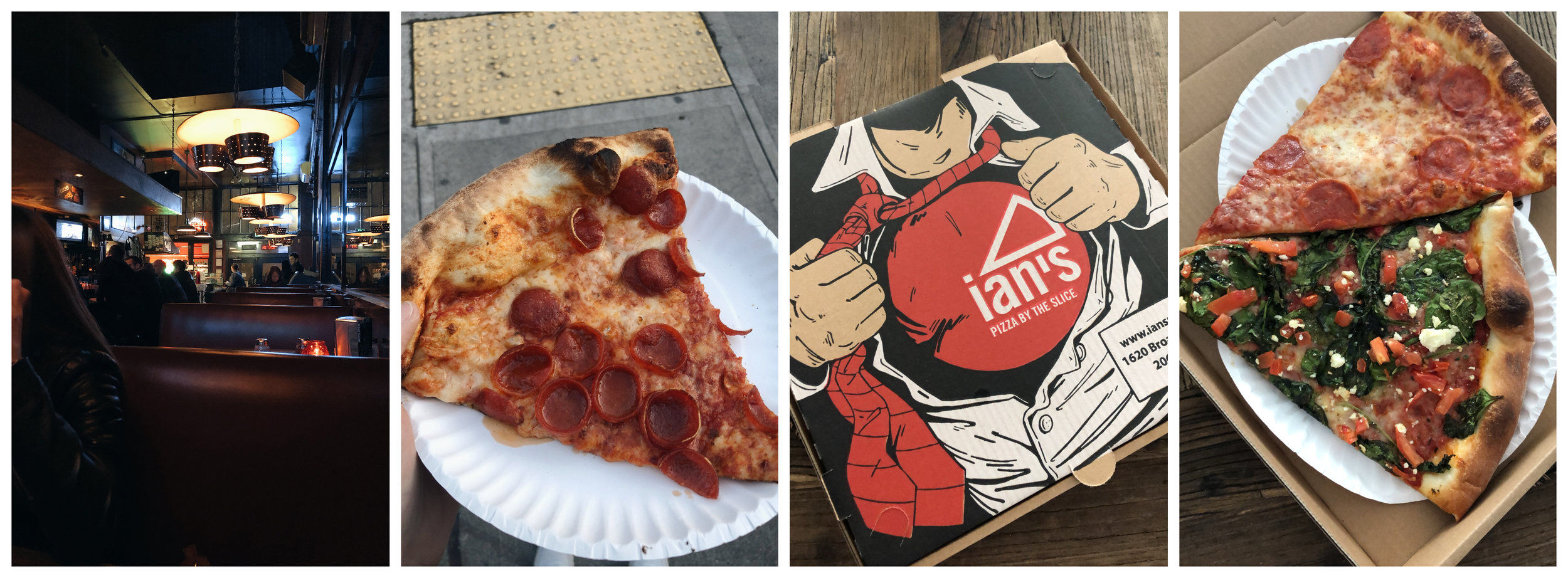Left (2): Big Mario's Pizza, Right (2): Ian's Pizza by the Slice