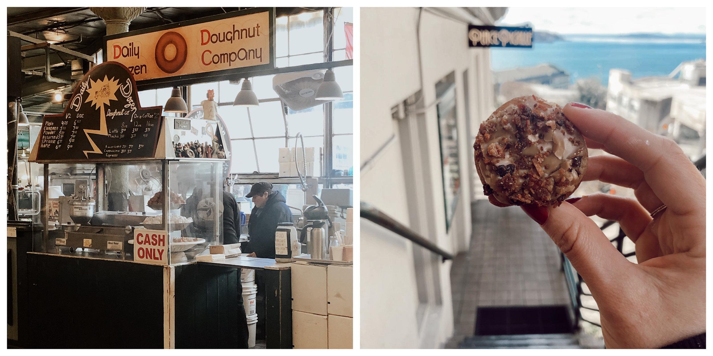 Daily Dozen Doughnut Company & Maple and Bacon Doughnut